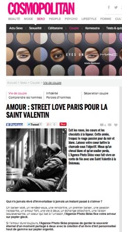 AMOUR : STREET LOVE PARIS POUR LA SAINT VALENTIN